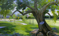 Great Mulberry Tree   28x46   Oil on Canvas   2013   Kettering