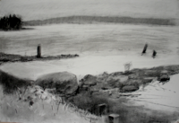 Fog Drawing I   20x28   Charcoal on Paper   2011