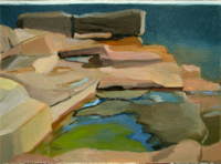 Tidal Pool Calm   10x14   Oil on Panel   2012