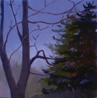 Tree Watching I   12x12   Oil on Panel   2009