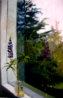 Lupin Study III   20x14   Oil on Panel   2011