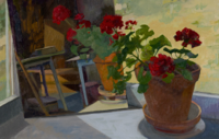 Geranium IV   16x30   Oil on Panel   2018