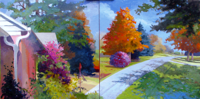 Fall Light VIII & VII   18x36   Oil on Canvas   2011