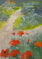 Poppies   12x9   Oil on Canvas   2010